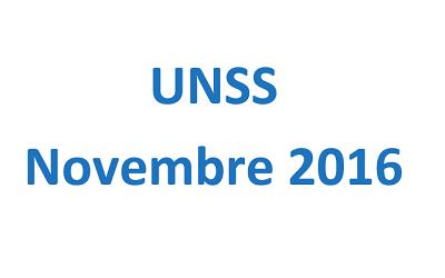 Programmation UNSS : mois de novembre