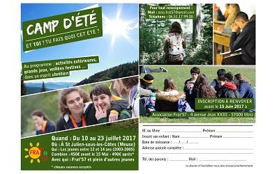 Camp d'été Juillet 2017