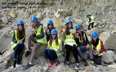 Sortie de géologie à la carrière de Héming