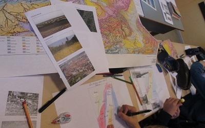 Sixième – Carte des paysages autour de Phalsbourg